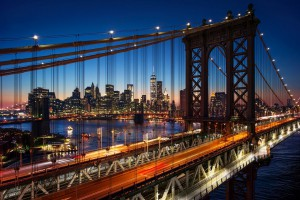 k-New York_Sunset_Manhattan and brooklyn bridge_shutterstock_227293255